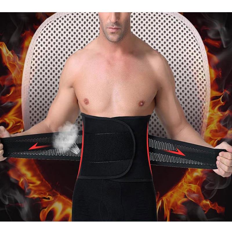 Milankerr Mens Fitness Sport di Sostegno Della Vita Cincher Cintura Body Shaper Belly Support Belt per Gli Uomini con Bruciore Febbre Pad