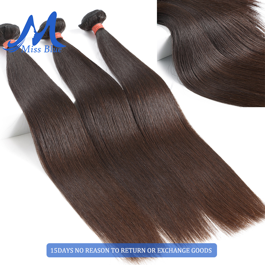 Missblue 10A Mink Quality Brazilian Virgin Hair Bundles Straight Grade 10A Raw Human Hair Weave Bundles Extensions 1 3 4 P/Lots 2
