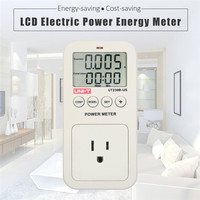 UNI T UT230B US wattmeter Voltage Current Cost Frequency Power Meter LCD Energy Consumption Monitor power socket