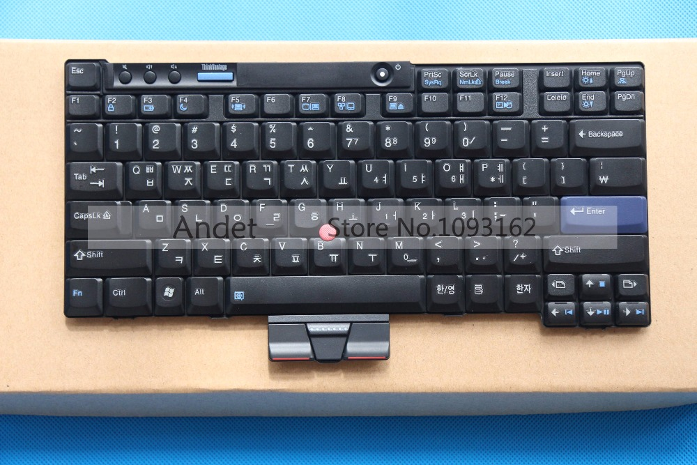 New Original for Lenovo Thinkpad X200 X200S X200 Tablet X201 X201i X201S X201 Tablet Keyboard Korean енот и бабочка