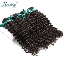 ILARIA HAIR Brazilian Curly Virgin Hair Deep Wave 4 Bundles Unprocessed Remy Human Hair Weave Bundle Natural Color Shipping Free(China)
