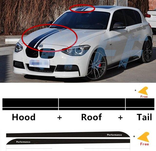 Superior Motorhaube Dach Schwanz Vinyl Dekorative Aufkleber///leistung  Seitenschweller Decals Für BMW 1 Serie