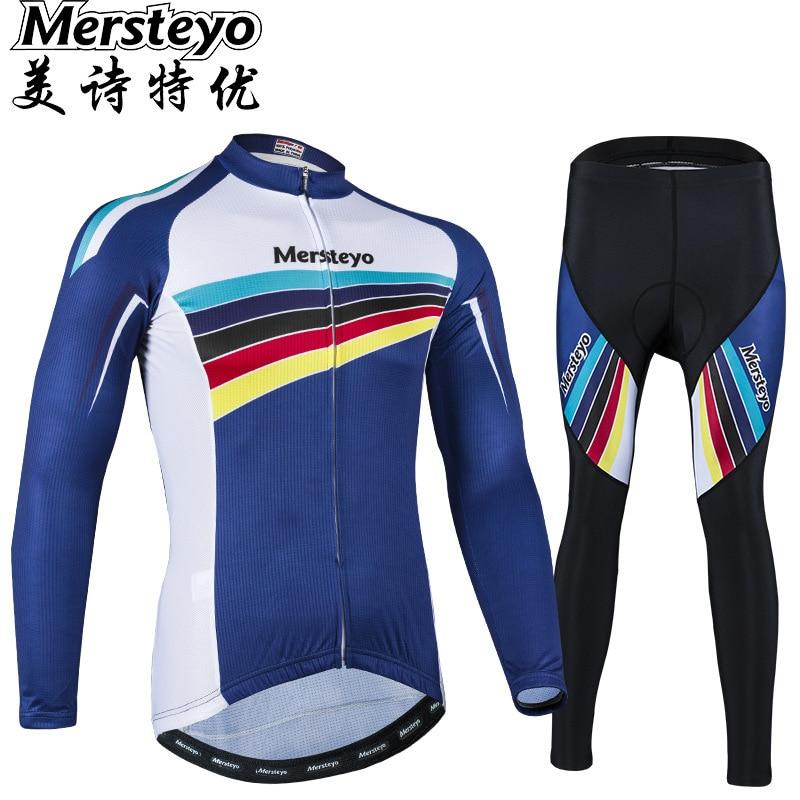 Printemps automne été Jersey à manches longues ensemble vélo cyclisme vêtements triathlon vélo équipement de plein air fournitures route voyage course