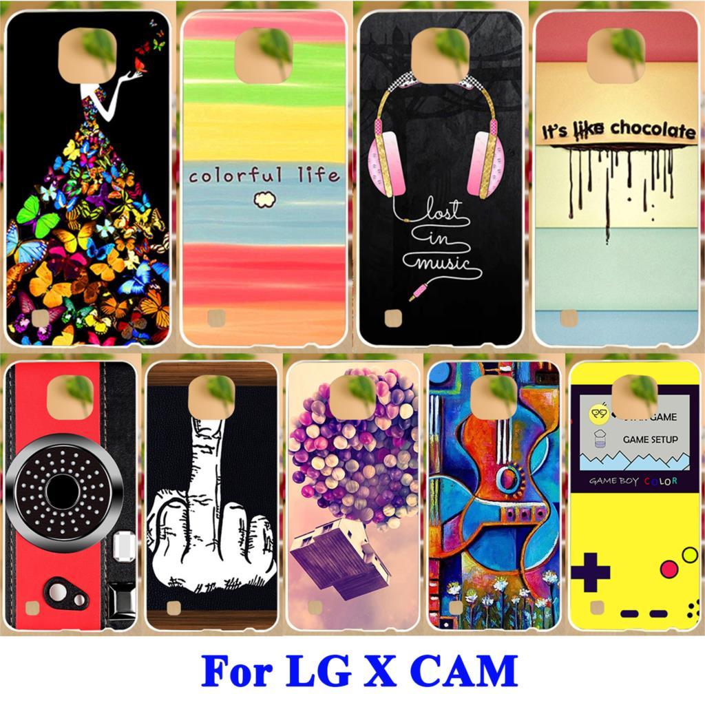 AKABEILA Durable Shell Soft TPU Hard PC Phone Case For LG X Cam F690 K580 K580Y X-cam K580 K580DS Covers Painted L Series Skin