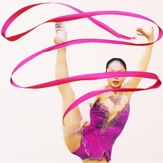 16af7b356 Ginástica Fita Dança Ginástica rítmica Riband Ballet Streamer Rodopio Rod  Performance de Palco Adereços