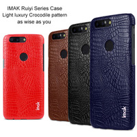 Original IMak Ruiyi Series Crocodile Silm Phone Case For Oneplus 5T Bumper Case For Oneplus 5T