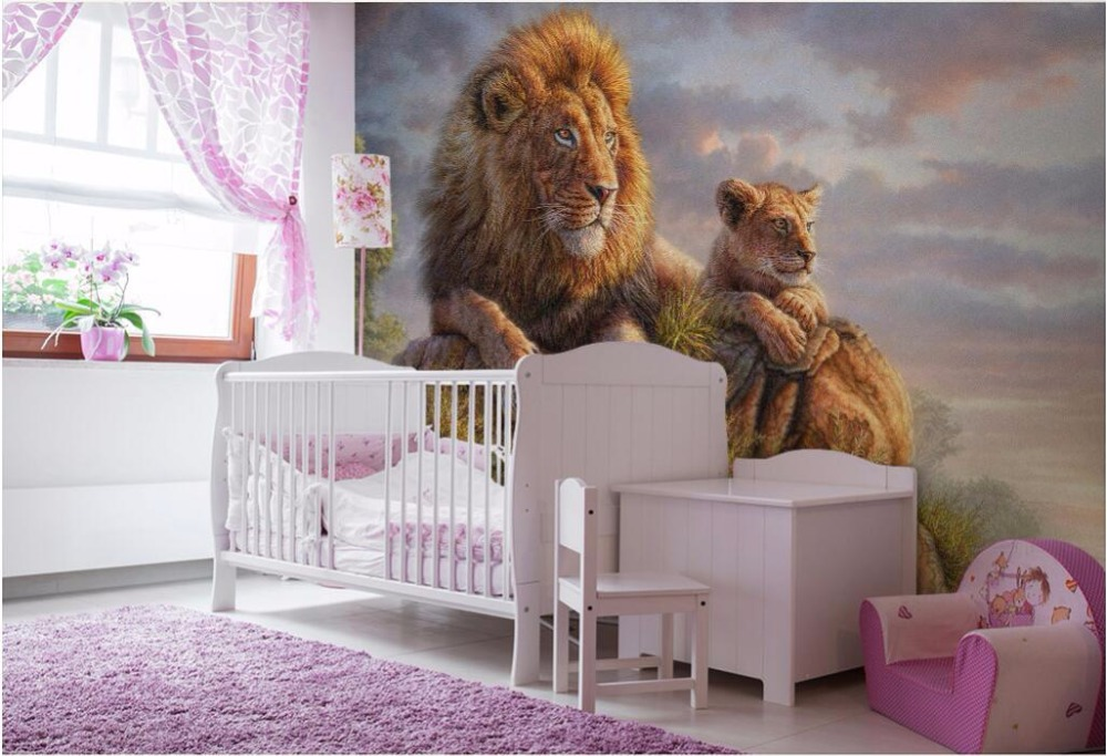 3d wall murals wallpaper for living room walls 3 d photo wallpaper Lion in the grass picture home decor Custom mural painting custom photo 3d wall murals wallpaper mountain waterfalls water decor painting picture wallpapers for walls 3 d living room