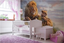 3d Wall Murals Wallpaper For Living Room Walls 3 D Photo Wallpaper Lion In  The Grass Picture Home Decor Custom Mural Painting Part 73