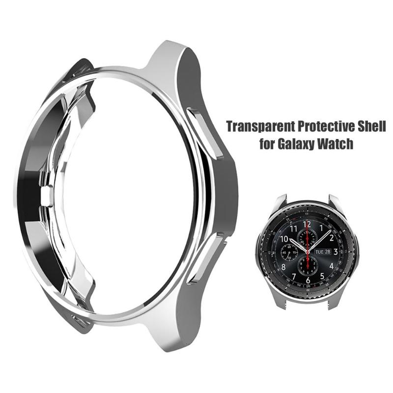 Soft TPU Plated All-Around Protective Cases Cover for Samsung Gear S3/Galaxy Watch Shell Frames 46mm for Samsung Accessories
