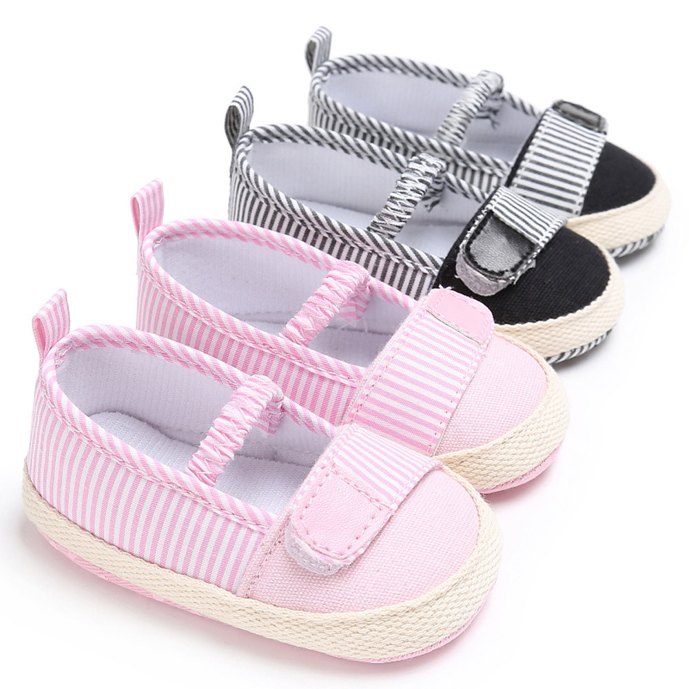 Canvas Cotton Bottom Newborn Baby Shoes Baby Boy&Girl Toddler Crib Shoes Slip On Comfort Shoes Loafers Soft Prewalker Shoes