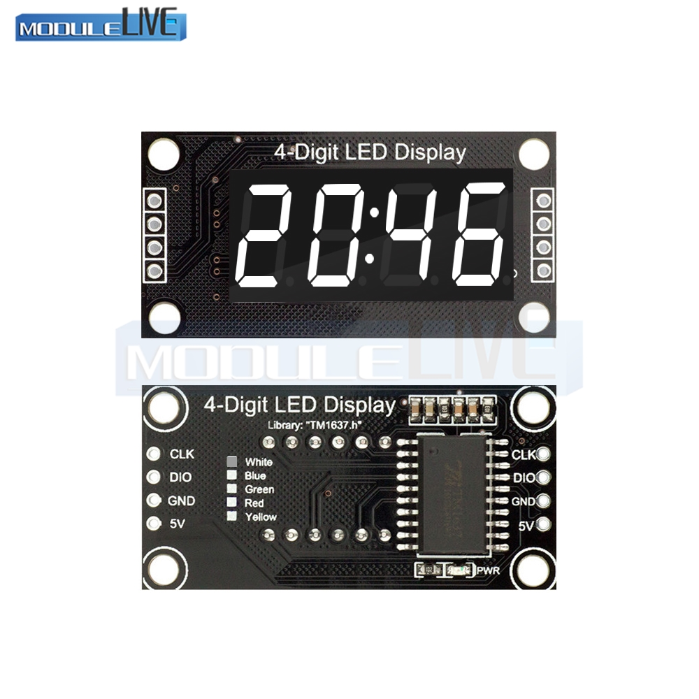 0.56/'/' TM1637 4Bit Digital LED 7 Segment Clock Tube Display For Arduino White