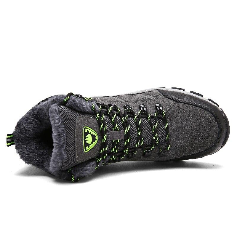 Homens Size 45 De Botas Zapatillas Calçado Dos Sapatos Neve Quente Cinza Adulto Masculino Sneakers Homem Ayakkabi Inverno Alta Erkek Top Camurça verde Plus Hombre XAqaxx