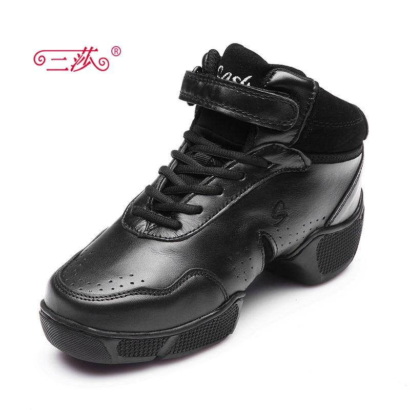 все цены на  sasha men and women Full Grain Leather Jazz majoring in Pop dance Sneakers shoes Men's higher sports dance shoes  в интернете