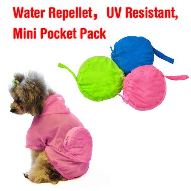 Pets Dog Waterproof Hooded Dog Raincoat Jacket Dogs Pets Puppy Cat Waterproof Raincoats Jacket UV Sunscreen Pets Clothes