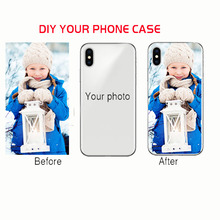 DIY Photo Soft Clear Name Cover Custom Design Phone Case Printed Coque For iphone 5s SE