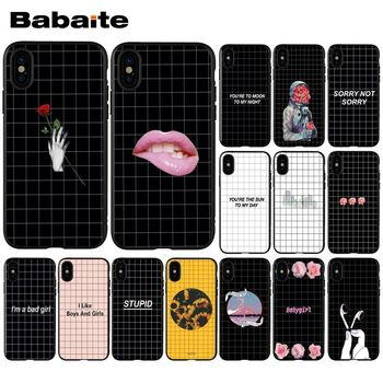 Babaite Black and white line art Luxury Unique Design Phone Cover for Apple iPhone 8 7 6 6S Plus X XS MAX 5 5S SE XR Cellphones image