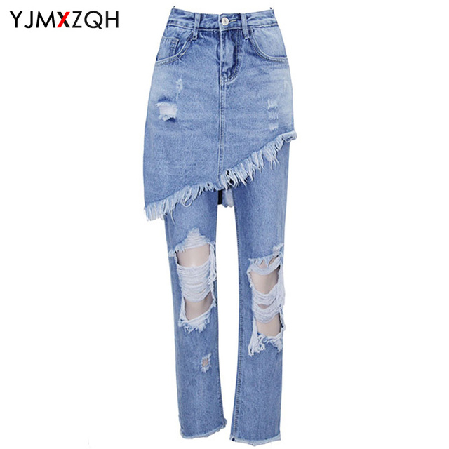 American Apparel Ripped Jeans Women Distressed Jeans Woman Vintage