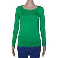Women Cropped Scoop Neck Modal Crop Tops T-Shirt Long Sleeve Casual Shirt Hot