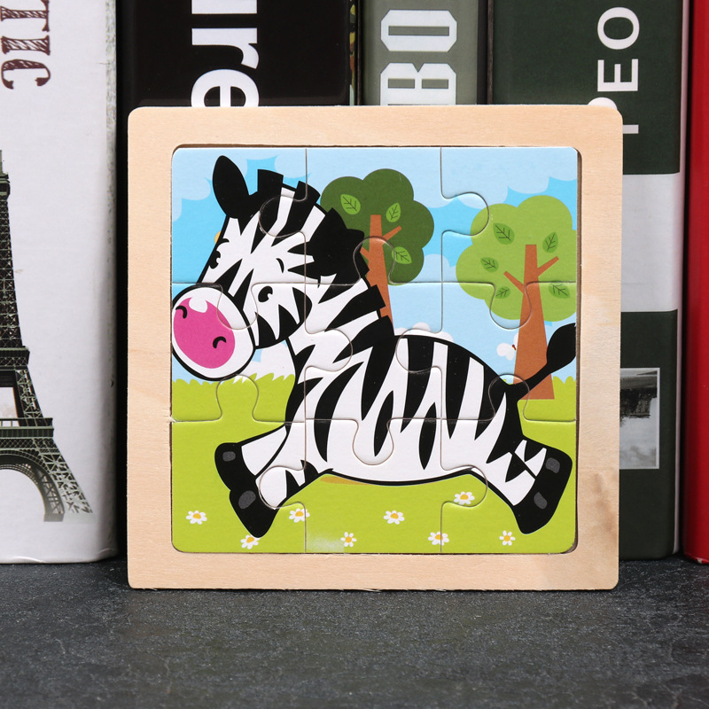 Multi-Choice Animal Development Baby Toys 3D Wooden Puzzle Cartoon Learning Educational Kids Toy