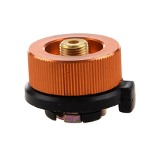 New Sale Outdoor Camp Stove Burner Connector Camping Conversion Gas Bottle Adaptor orange