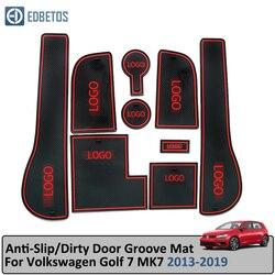 Kapı oluk Mat Volkswagen Golf 7 için MK7 2013-2019 Anti-Slip Mat kapısı yuvası Coaster Anti- kirli Mat