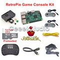 16GB RetroPie Game Console Kit with Raspberry Pi 3 Model B SNES Controllers with 5V 2.5A EU/US/UK/AU Power Supply