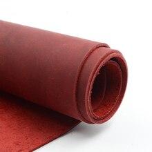Piel natural cuero de vaca crazy horse cuero rojo cuero genuino para costura para cinturón buena calidad muchos tamaños