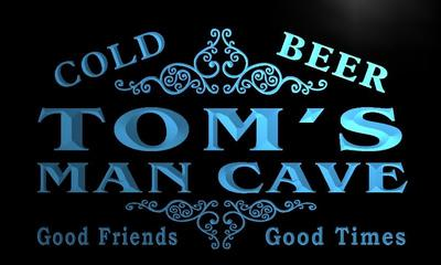 x0154-tm Toms Man Cave Beer Ale Bar Custom Personalized Name Neon Sign Wholesale Dropshipping On/Off Switch 7 Colors DHL