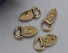 10 шт./лот аппаратных аксессуаров багаж на обеих сторонах винт круглая голова D кольцо сумка пакет карабином уши из металла край