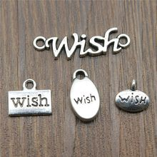 Charms Wish Vintage โบราณ Wish Charms Tag (China)
