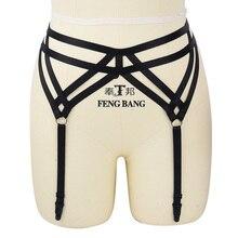 Underwear Gothic Sexy Belt Garter Body Harness Cage Fetish Bondage Wear Teddy Erotic Lingerie Womens Black