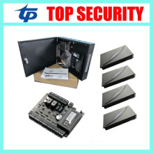 2 doors access control board zk C3-200 door access control system with power supply box and 4pcs KR100E