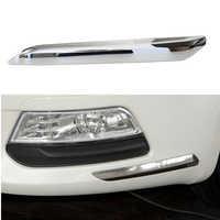 for Peugeot for Citroen C5 2008 2009 2010 2011 2012 2013 2014 2015 car Front Bumper Chrome Silver Trim Strip Decoration Cover