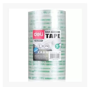 office adhesive transparent tape deli 30000 8mm 20y stationery glue clear