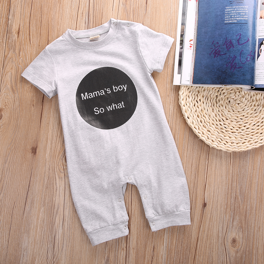 summer romper 2016 wholesale todders infant baby girl boy letter printed short sleeve romper outfits clothes