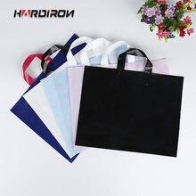 50 шт модный пластиковый мешок для покупок с логотипом на заказ