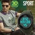 Esportes homens relógios de luxo da marca skmei led relógio digital de calorias pedômetro 3d relógio militar relogio masculino relógios de pulso dos homens