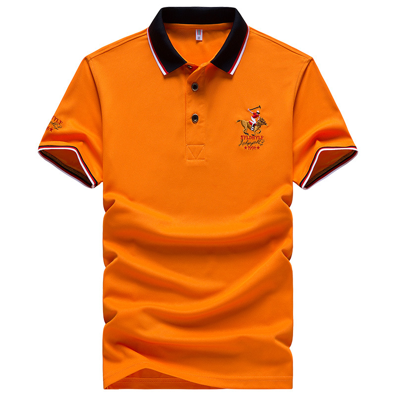 Brand Embroidered Men's   Polo   Shirt Eden Park Golf Solid Color   Polos   Breathable Short Sleeve Shirts European Size M-4XL;YA275