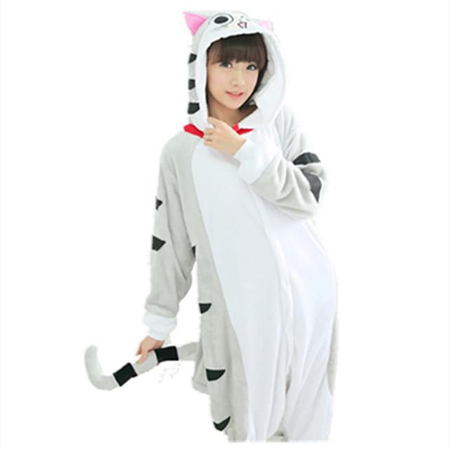 Women's Cat Themed Beige Sleepwear