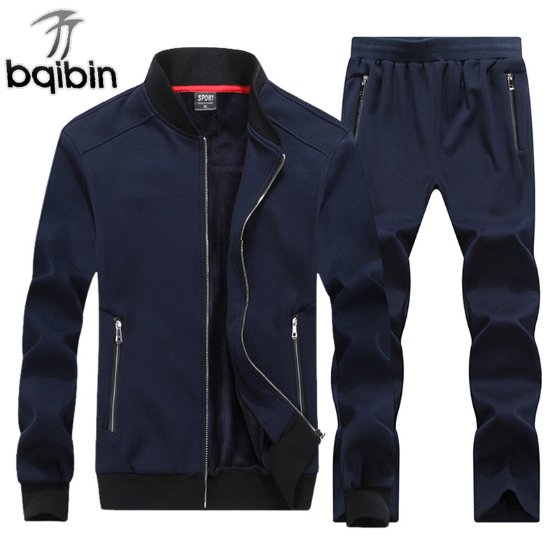 8XL Plus Size 2018 Fashion Winter Sporting Sets Men Set Jacket+Pant Sweatsuit 2 Piece Set Sportswear Thicken Tracksuit Clothing