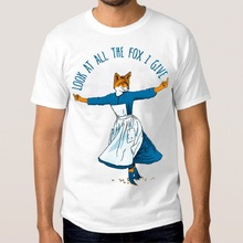 Summer Tops MenS Look At All The Fox I Give Funny O-Neck Short Sleeve Fashion T Shirts