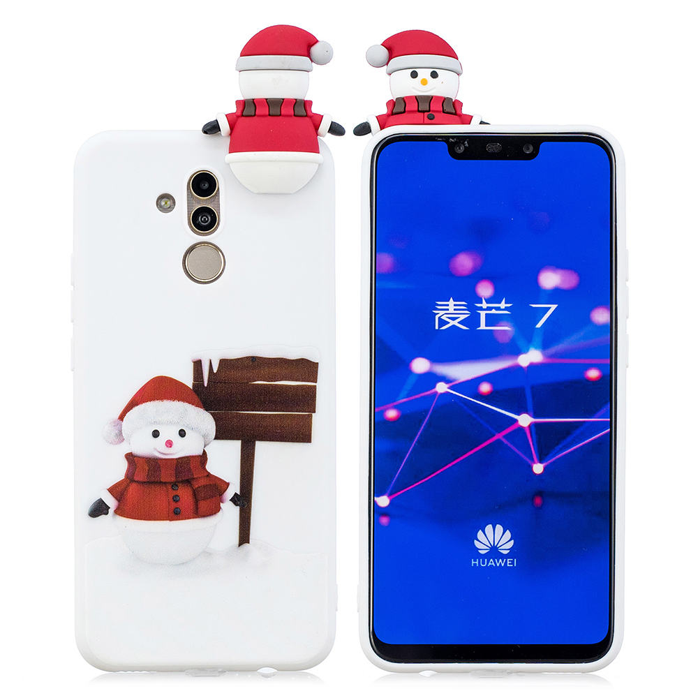Christmas Gifts Santa Claus Phone Case On For Huawei Mate 20 Lite P20 Pro Mate 10 P10 P9 P8 Lite 3D Cartoon Soft Case Cover
