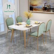 Луи Мода обеденные стулья скандинавские Tieyi ресторан кафе бар спинки офисные конференции креативный дом чистая красный туалетный