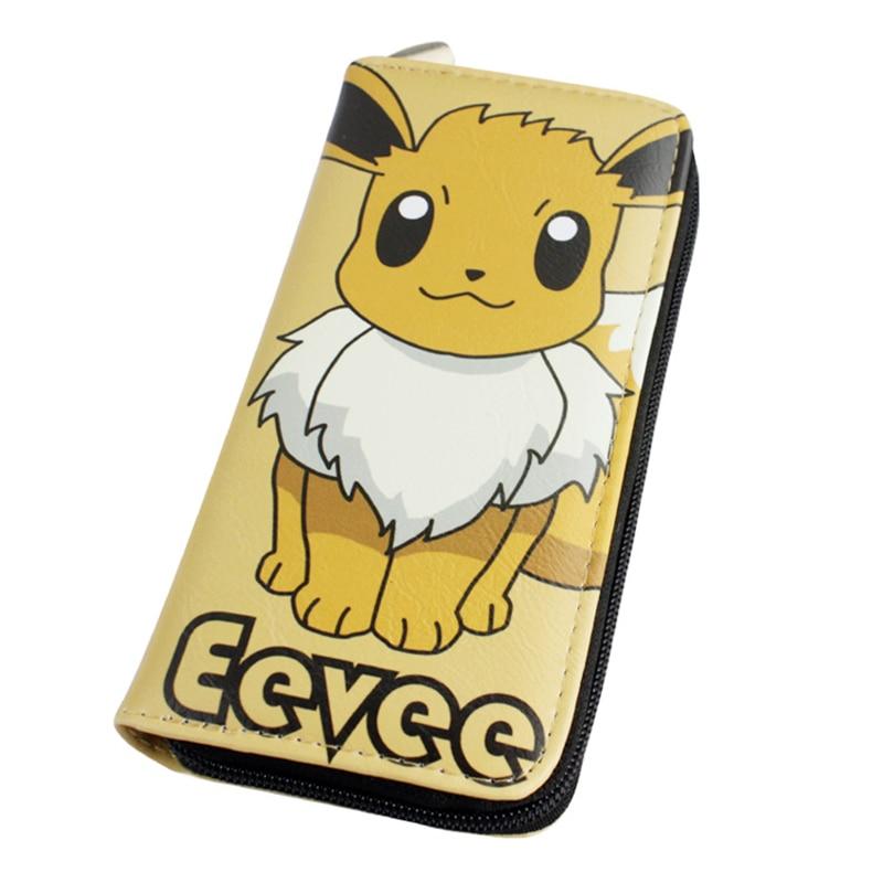 Game Pokemon Wallet Eevee Umbreon Espeon Jolteon Vaporeon Flareon Glaceon Leafeon Men Clutch Wallets Zipper Purse