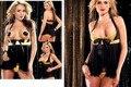 Falência aberto para as mulheres boneca sexy black mesh anágua venda quente o desgaste do sexo roupa interior sexy leite orvalho transparente anágua