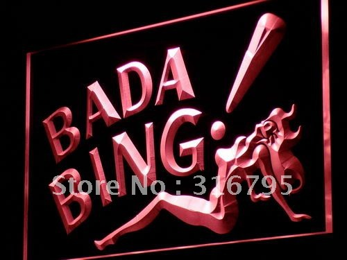 i886 Bada Bing Sexy Lady Bar Beer Pub Light Sign On/Off Swtich 20+ Colors 5 Sizes