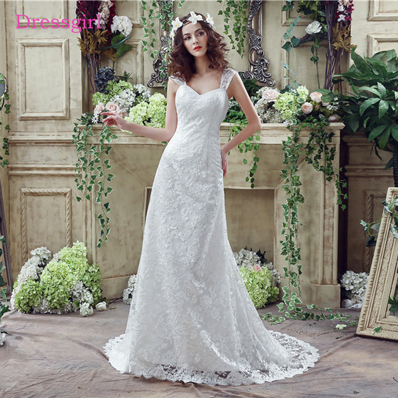 Sweetheart Wedding Dress With Cap Sleeves: Lace Vestido De Noiva 2019 Wedding Dresses Mermaid