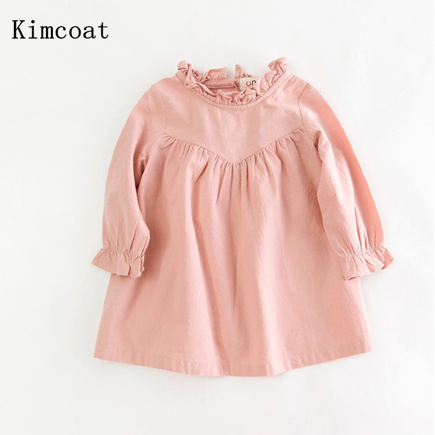 3c39614c0 Best buy Retail children girl spring cotton and linen dress vintage baby  girl Loose shirt dress high quality girl blouse autumn online cheap