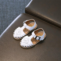 Summer Children Sandals Children Shoes Genuine Leather Sandals Casual Boys Girls Baby Sandal Cross Breathable Child Sandal Shoes