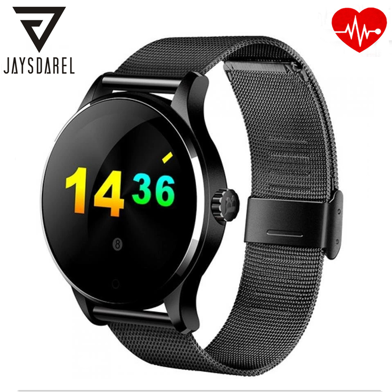 JAYSDAREL K88H Heart Rate Monitor Smart Watch MTK2502 6 Clock Interfaces IPS Screen Bluetooth Smartwatch for IOS Android hraefn bluetooth smart watch k88s round full view ips smartwatch heart rate monitor wristwatch for ios android support sim card